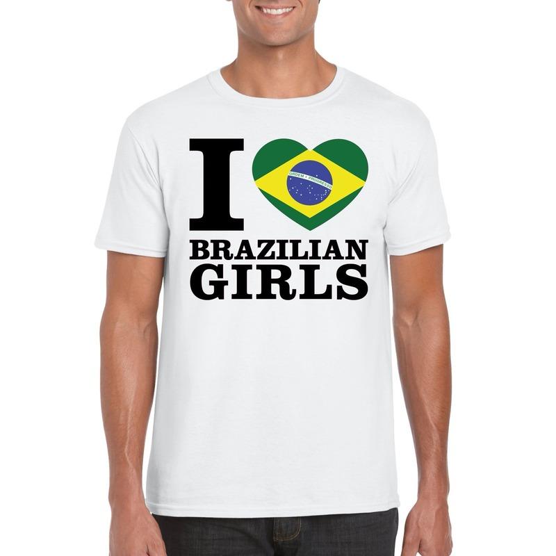 I love Brazilian girls t-shirt wit heren