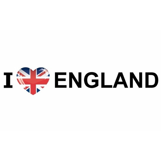 I Love England papieren sticker