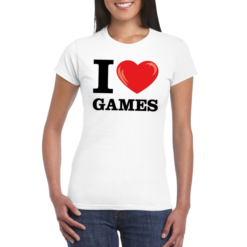 I love games t-shirt wit dames