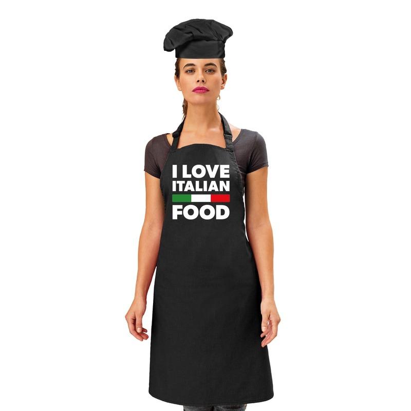 I love Italian food keukenschort voor dames -