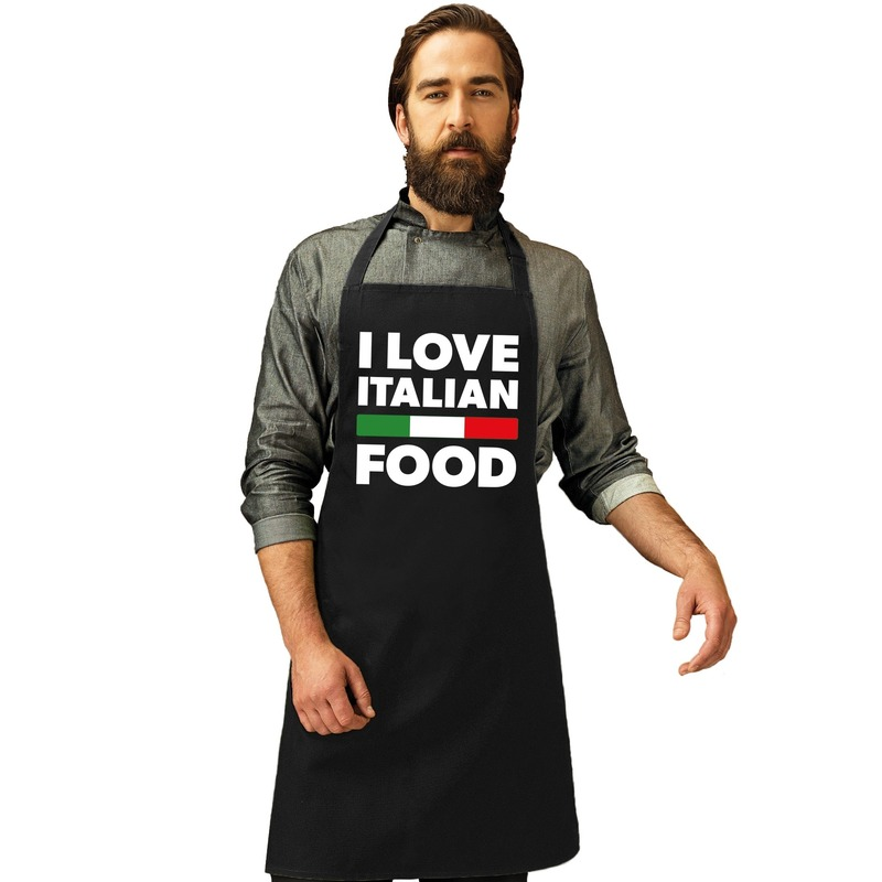 I love Italian food keukenschort
