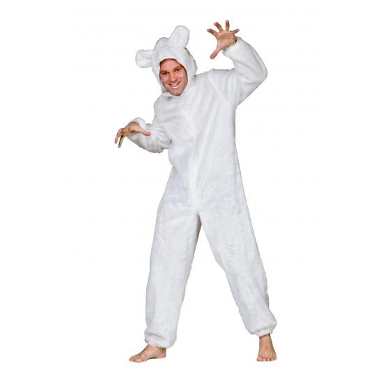 Ijsberen pak voor volwassenen 50 (M) Wit