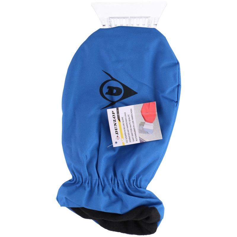 IJskrabber met warme handschoen blauw 35 cm