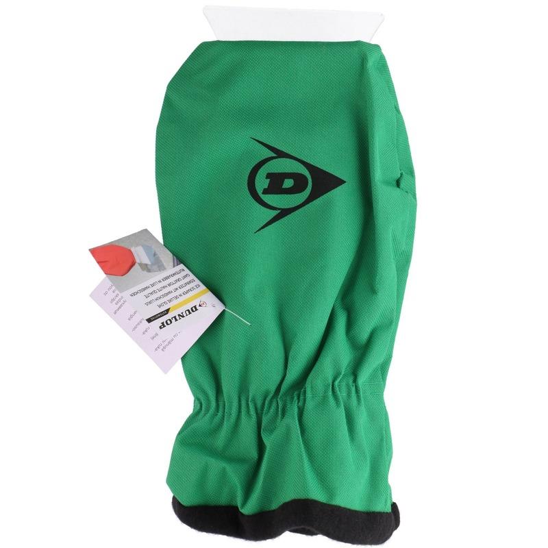 IJskrabber met warme handschoen groen 35 cm