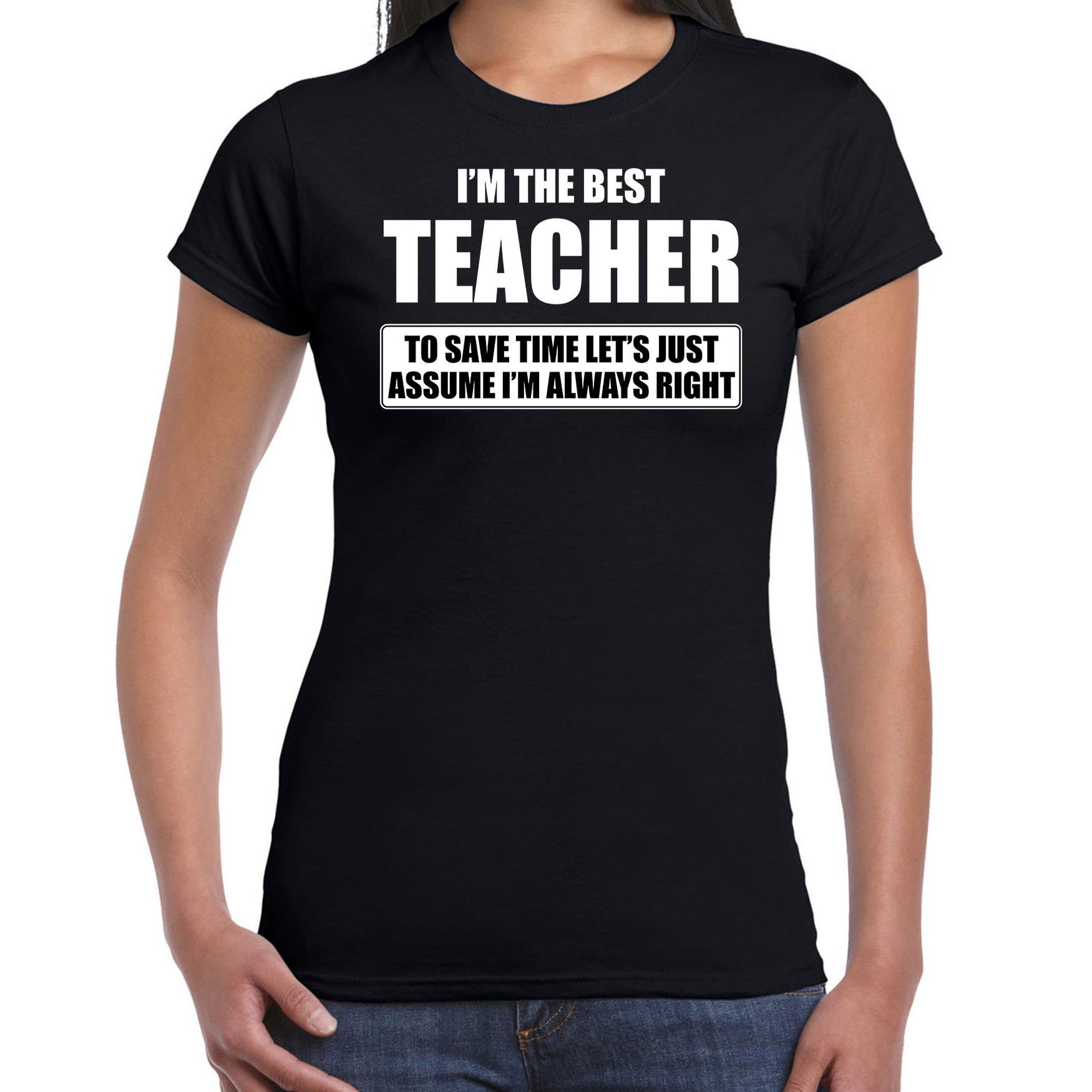 I'm the best teacher t-shirt zwart dames - De beste juf cadeau
