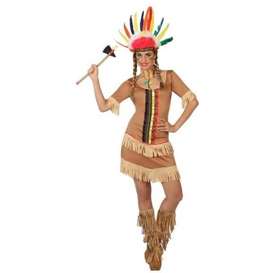 Indianen Manipi verkleed jurkje/kostuum voor dames