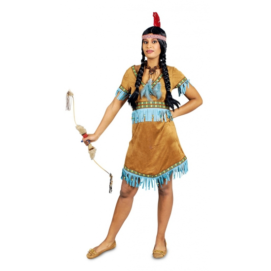 Indianen verkleed jurkje Nashota voor dames