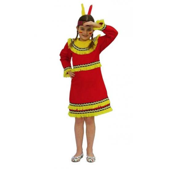 Indianenpak rood voor meisjes