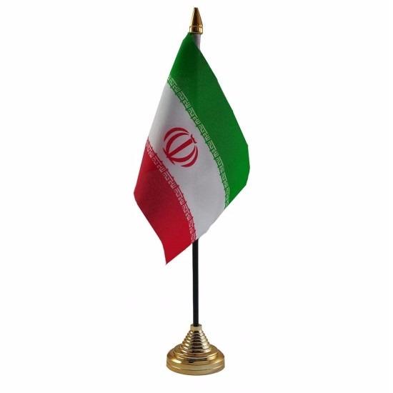 Iran tafelvlaggetje 10 x 15 cm met standaard