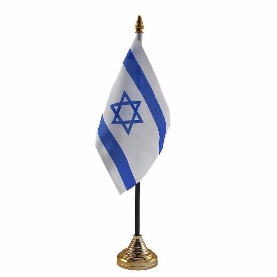 Israel tafelvlaggetje 10 x 15 cm met standaard