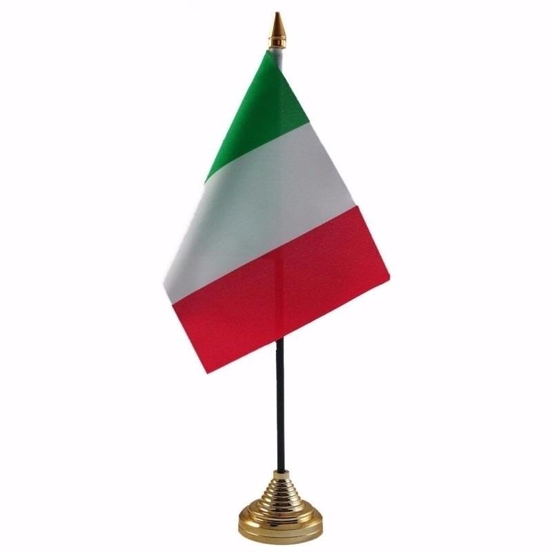 Italie tafelvlaggetje 10 x 15 cm met standaard