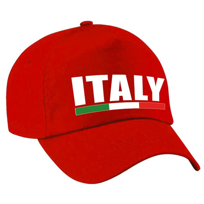 Italy supporter pet - cap Italie rood kinderen