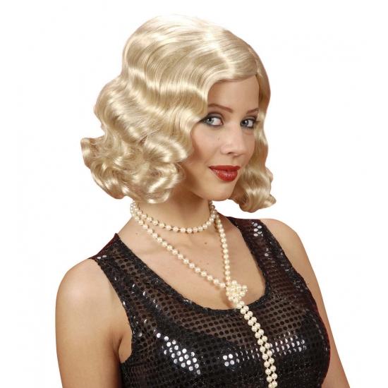 Jaren 20 dames pruik blond