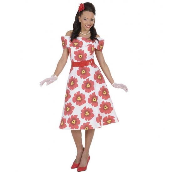 Jaren 50 bloemetjes jurk