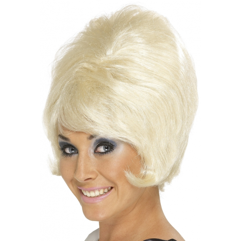 Jaren 60 blonde dames pruik