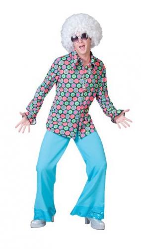 Jaren 70 disco overhemd voor heren