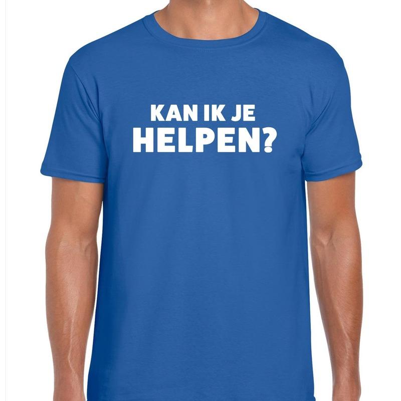 Kan ik je helpen beurs/evenementen t-shirt blauw heren