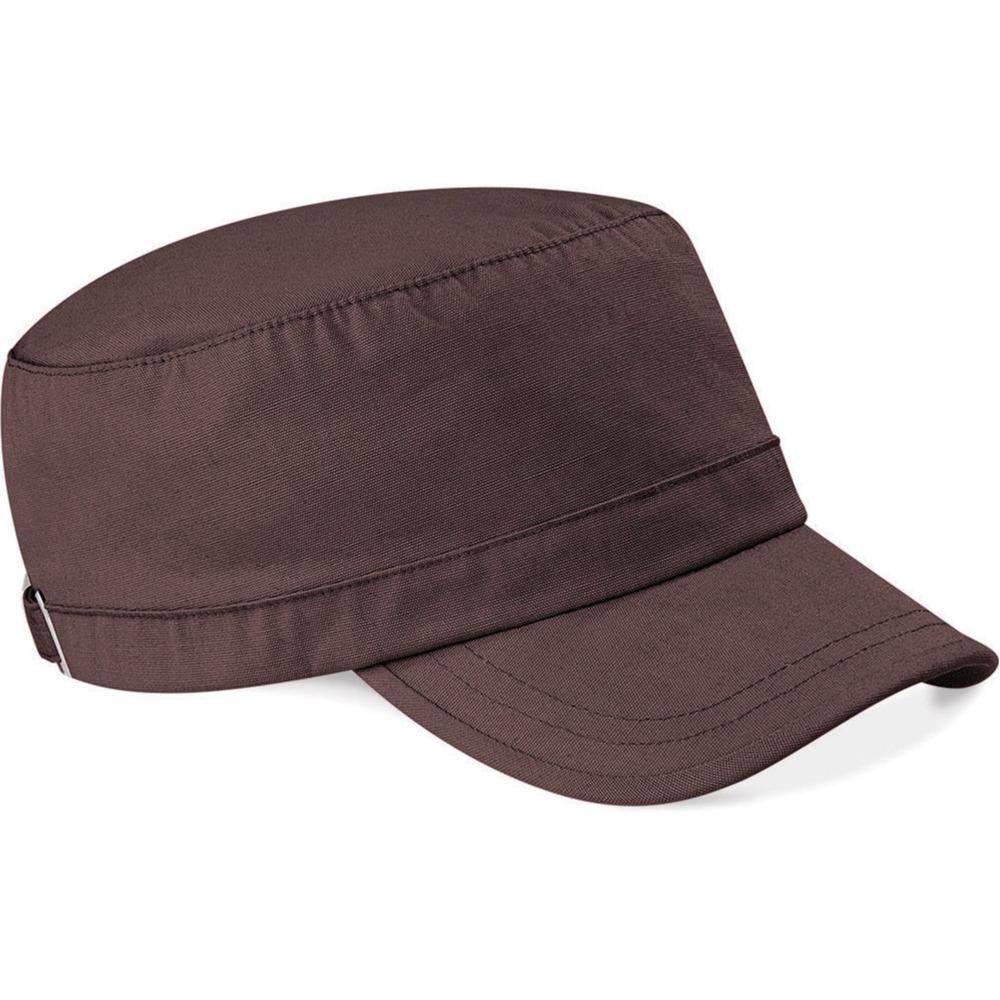 Katoenen leger army pet cap bruin voor volwassenen
