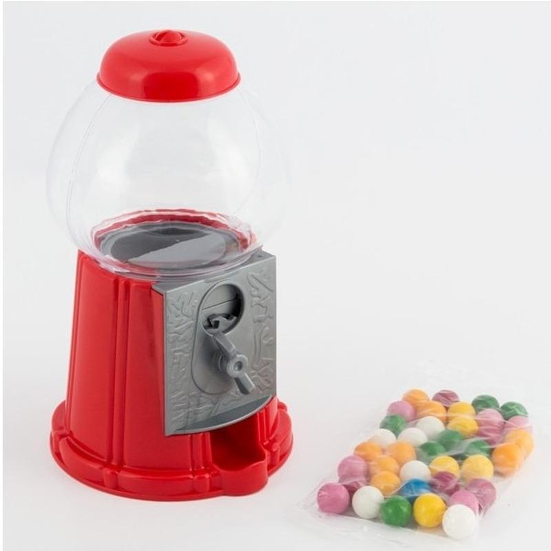 Kauwgomballen automaat 22 cm incl. 240 gram kauwgomballen