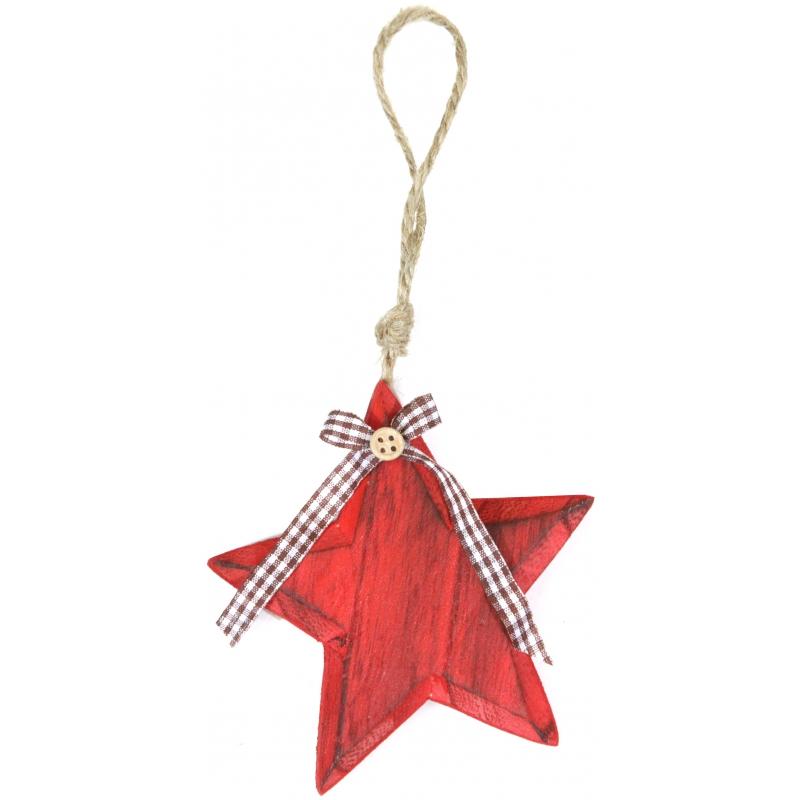 Kerstboomhanger ster 11 cm
