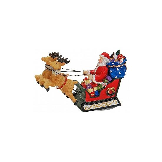 Kerstman decoratie beeldjes-beelden 8 cm