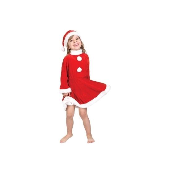 Kerstmannen jurkje voor meisjes