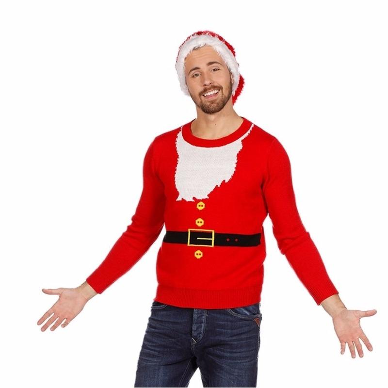 Kersttrui kerstman voor heren 54 (XL) Rood