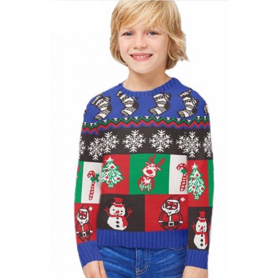 Kersttrui Little Boxes voor kinderen 11-12 jaar (152) - kerst truien kind