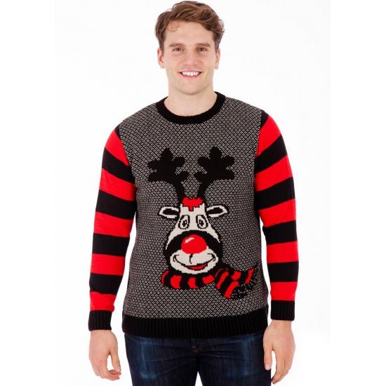 Kersttrui Rudy Reindeer voor heren S Multi