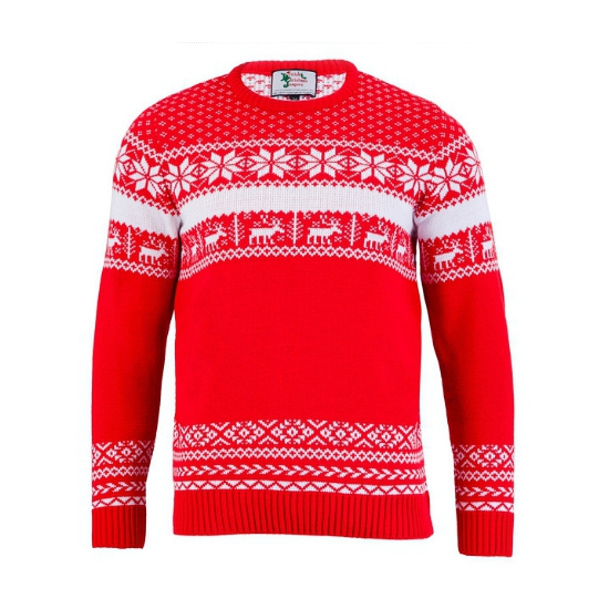 Kersttrui The Red Nordic voor heren XL Rood