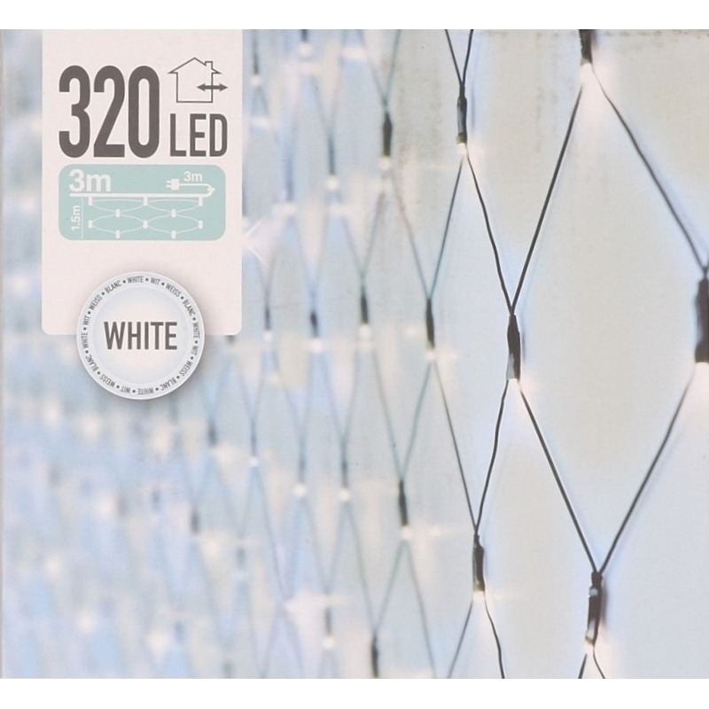 Kerstverlichting koel wit LED netverlichting 100 x 200 cm buiten - kerstverlichting lichtnet