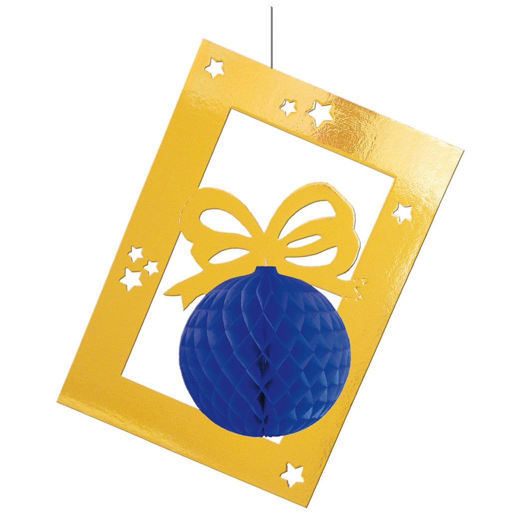 Kerstversiering hangdecoratie kerstbal 70 cm
