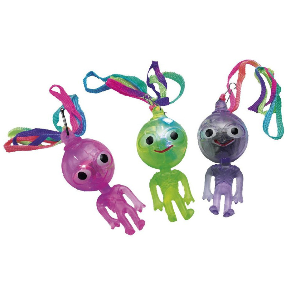 Ketting met lichtgevend aliens poppetje
