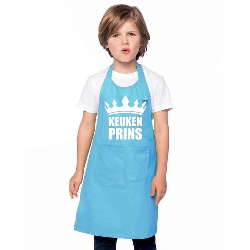 Keukenprins keukenschort blauw jongens -