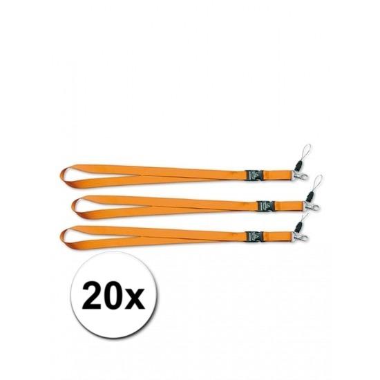 Keycords oranje 20 stuks