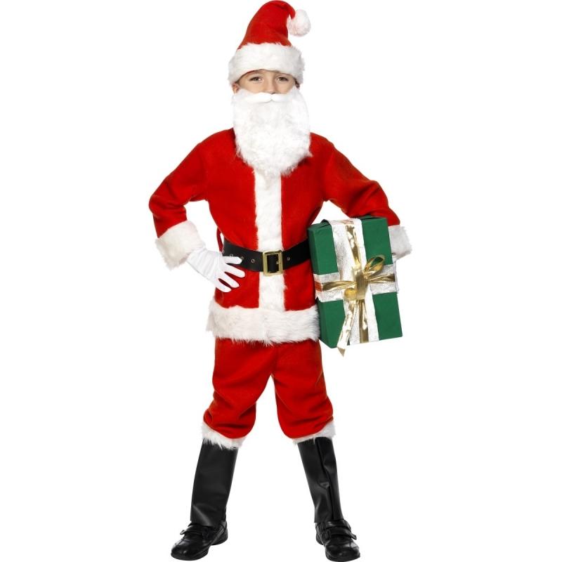 Kinder kerstman kostuum luxe