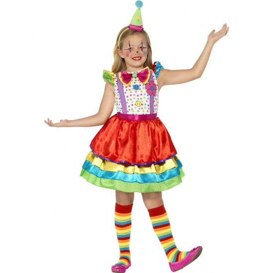 Kleurrijk clowns jurkje voor meisjes