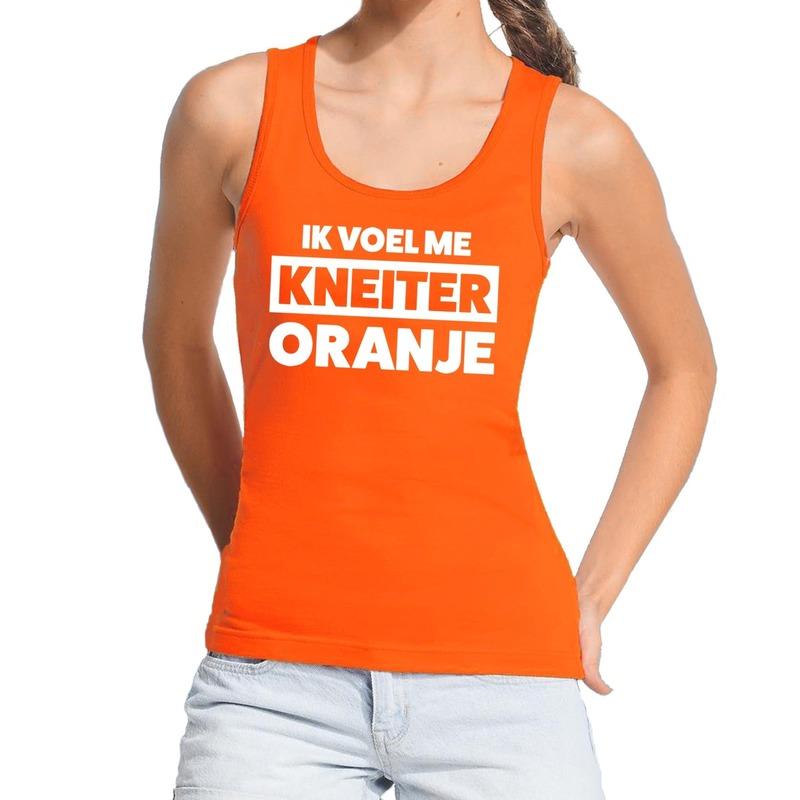 Kneiter oranje Koningsdag tanktop - mouwloos shirt oranje dames