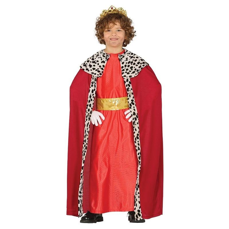 Koning mantel rood verkleedkostuum voor kinderen