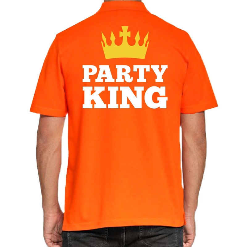 Koningsdag poloshirt Party King voor heren