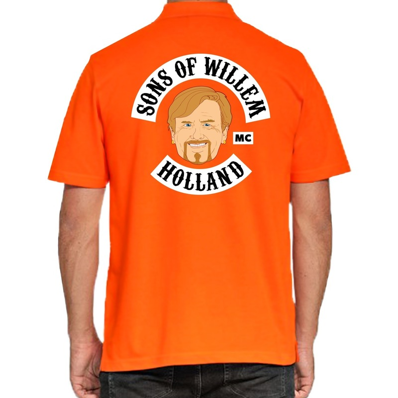 Koningsdag poloshirt Sons of Willem Holland oranje voor heren