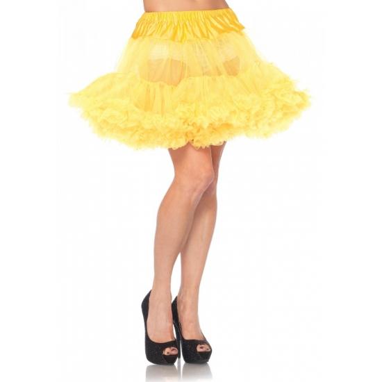 Korte gele petticoat/tutu voor dames