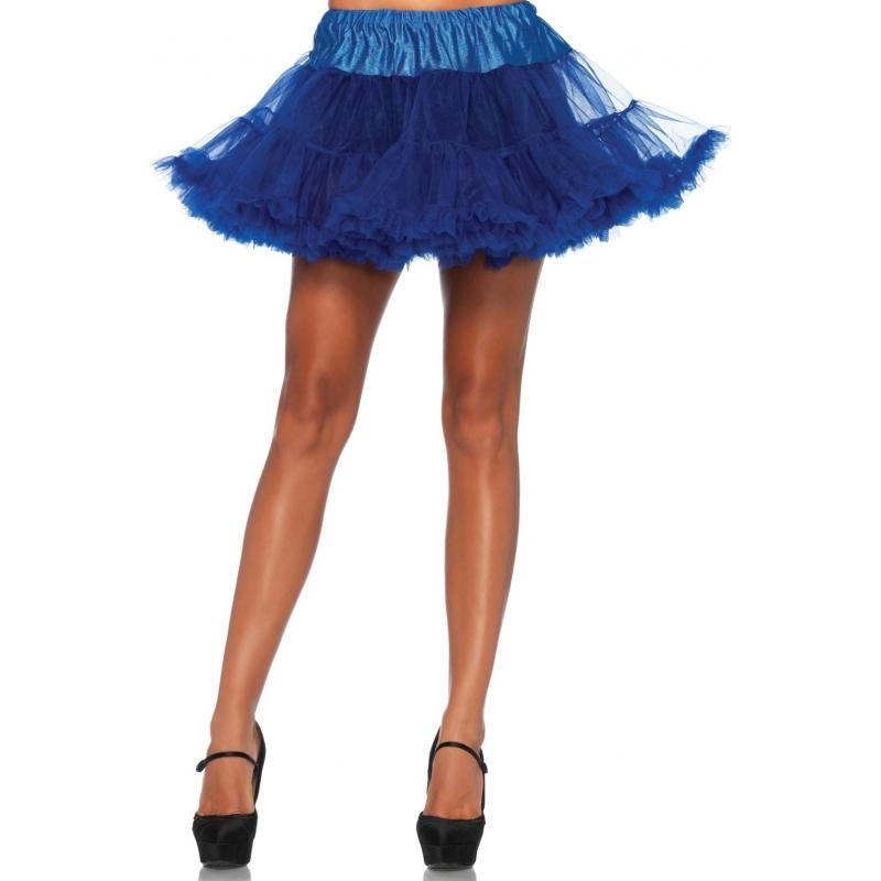 Korte kobalt petticoat/tutu voor dames