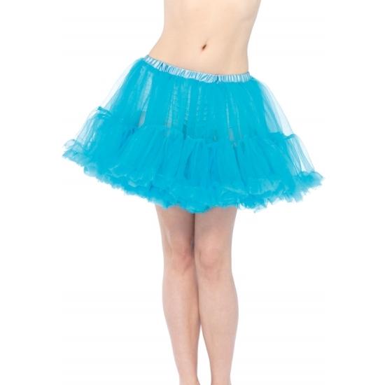Korte turquoise petticoat/tutu voor dames
