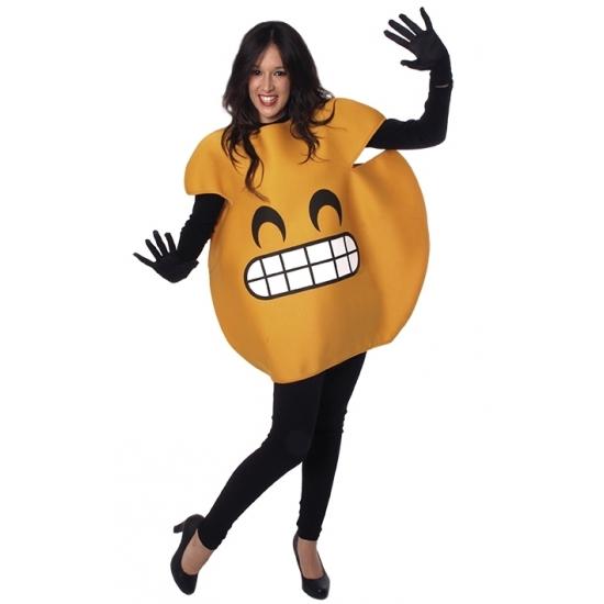 Lachende emoticon kostuum voor volwassenen