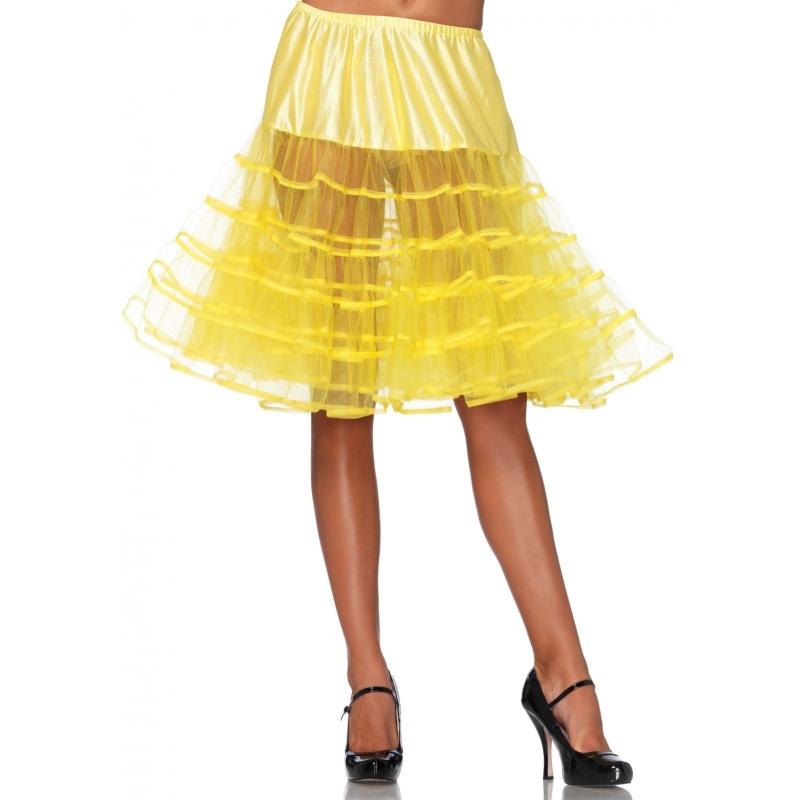 Lange gele petticoat voor dames
