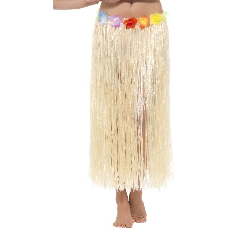 Lange Hawaii dames rok met gekleurde bloemen