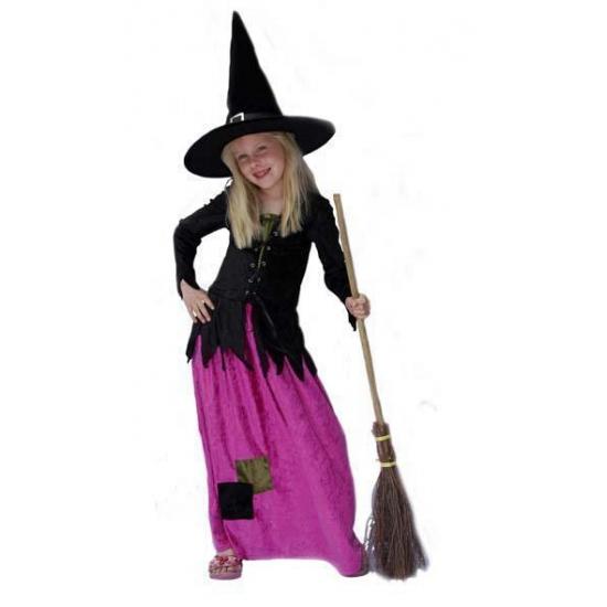Lange heksenjurk voor meisjes
