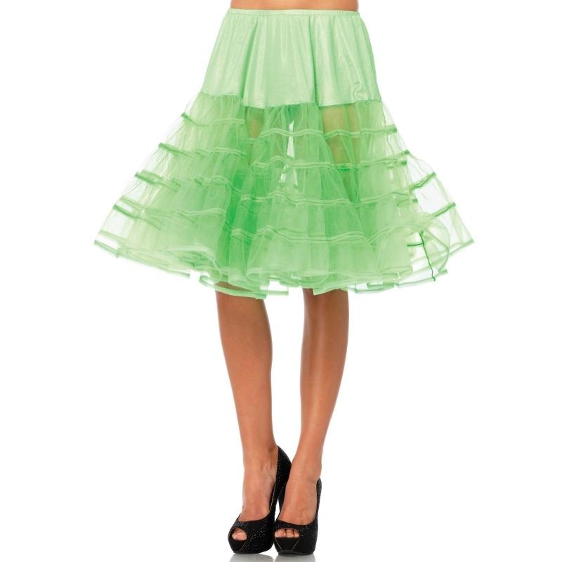 Lange neon groene petticoat voor dames