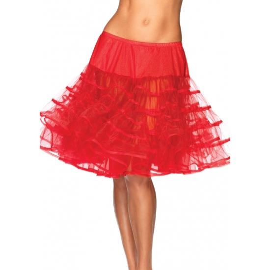 Lange rode petticoat voor dames